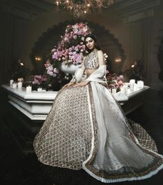 Grace and glamour intertwine for a sangeet ceremony in Udaipur, India. looks absolutely stunning in Styling:… Manish Malhotra Bridal, Bridal Lehenga, Bollywood Dress, Bollywood Wedding, Indian Groom Wear, Indian Wear, Indian Suits, Manish Malhotra Collection, Eastern Dresses