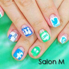 アイコンネイル #ネイル #nail #nailart #naildesign http://www.salon-m.co.jp/