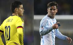 James Rodríguez y Lionel Messi. Fotos: EFE