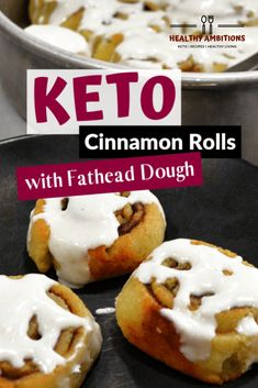 Keto Cinnamon Rolls with Sweet Fathead Dough keto breakfast cinnamonrolls fatheaddough glutenfree grainfree sugarfree healthyambitions recipes 378091331217741417 Keto Friendly Desserts, Low Carb Desserts, Low Carb Recipes, Snack Recipes, Dessert Recipes, Diet Recipes, Raw Recipes, Raw Desserts, Keto Snacks