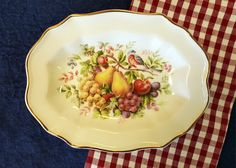 Avon Decorative Dish Fruit and Bird Dish Hand by TwoArtisans