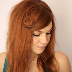 Simple hair tutorial on how to twist and pin bangs.