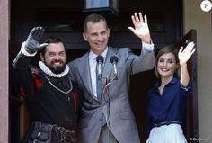 Queen Letizia and King Felipe visited Castillo San Marcos during the 450th St Augustine anniversary on September 18, 2015 in St Augustine, Florida