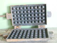 Waffle Iron by VintageRetroOddities on Etsy
