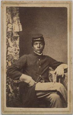 ca. 1860's, [carte de visite portrait of Union solider in uniform] via Cowan's Auctions