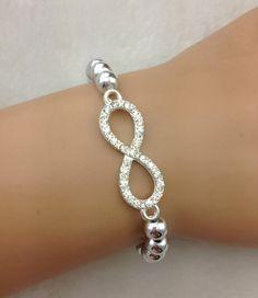 Infinity Stretch Beaded Bracelet 3-5 DAYS SHIPPING 43100a6bbe38