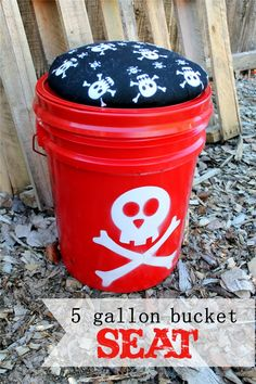 5 Gallon Bucket Seat--A seat that holds your gear! Great for Young Women/Girls' Camp, Pioneer Trek, Scouts, or family camping!