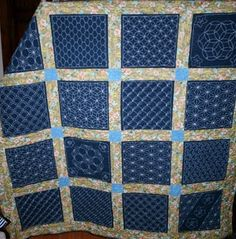 sashiko quilt....I thought this looked familiar...It is my own quilt!