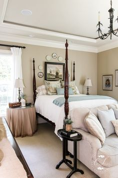 Beautiful Bedrooms Tour- The Master - Decoration for All Bedroom Color Schemes, Bedroom Colors, Bedroom Sets, Home Bedroom, Modern Bedroom, Bedroom Furniture, Bedroom Decor, 60s Bedroom, Cheap Furniture