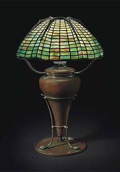 A SPIDER TABLE LAMP, CIRCA 1910