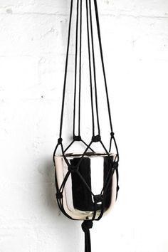Black Macrame Plant Hanger
