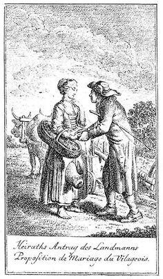 Daniel Nikolaus Chodowiecki: Heiratsantrag des Landmannes (The Countryman's…