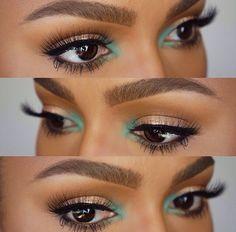 Super Makeup Looks Dark Skin Black Women Brows 22 Ideas Flawless Makeup, Gorgeous Makeup, Pretty Makeup, Love Makeup, Skin Makeup, Makeup Inspo, Makeup Inspiration, Green Makeup, Black Makeup