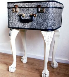 yet another use for old leather suitcases