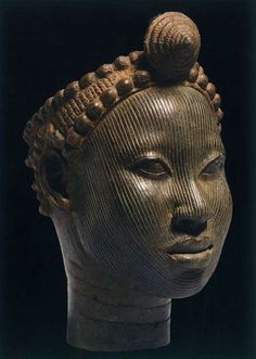 """Head with crown, - early century, copper alloy (""""The Kingdom of Ife: Sculptures from West Africa,"""" British Museum) - tenthousandlux: March 2010 Africa Art, West Africa, Statues, African Room, Afro, African Sculptures, Sand Sculptures, Black Royalty, Yoruba"""