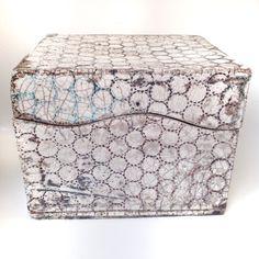 Raku ceramic box, transparent glaze with copper, Jill E Rosenberg