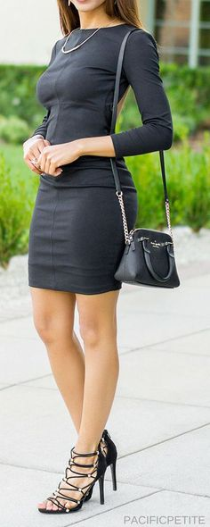 How do you wear a bra with a backless dress? I got you covered! I talk about how to wear a bra with this cut out back black short dress. Casual, cute and classy. I've paired with a Kate spade cross body purse
