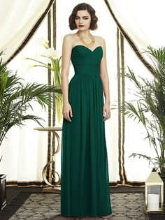 Hunter Green bridemaid dress, Dessy Collection Style 2896