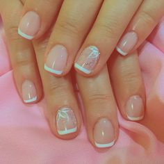How to Choose Nail Tips – NaiLovely Manicure Nail Designs, French Manicure Nails, French Tip Nails, Shellac Nails, Toe Nail Designs, Toe Nails, Simple Acrylic Nails, Simple Nails, Ongles Gel French