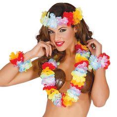 Conjunto Hawaiano Extra #accesorioshawaianos #accesoriosdisfraz #accesoriosphotocall