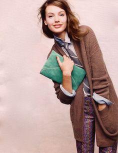 Those pants :)  J.Crew catalog: November 2011 (Model: Mona Johannesson)
