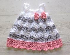 baby girl crochet dressbaby shower gift little by paintcrochet