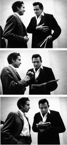Bob Dylan & Johnny Cash, Carnegie Hall, 1968 | Bob Dylan and Johnny Cash had formed a mutual admiration society even before they met in the early 1960s.  When the young Dylan arrived on the scene in 1962, Cash was impressed. Cash wrote the young Dylan a fan letter, and they began corresponding.
