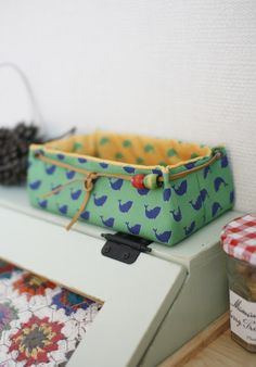 Fabric Basket Tutorial Fabric Storage Box. DIY tutorial in pictures.  Корзинка из ткани. МК.