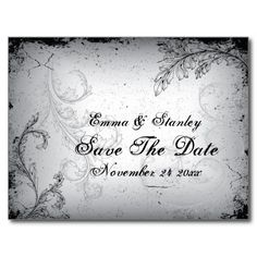 =>quality product          Vintage black grey scroll leaf Save the Date Post Cards           Vintage black grey scroll leaf Save the Date Post Cards We have the best promotion for you and if you are interested in the related item or need more information reviews from the x customer who are own...Cleck Hot Deals >>> http://www.zazzle.com/vintage_black_grey_scroll_leaf_save_the_date_postcard-239791961660385232?rf=238627982471231924&zbar=1&tc=terrest
