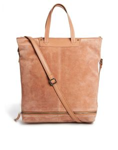 Bolsos - Bags - Leather Shoulder Bag With Zip Base
