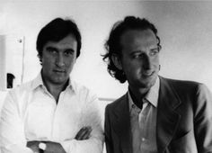 An early photograph of Claudio Abbado and Maurizio Pollini.