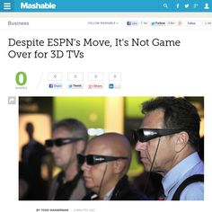 http://mashable.com/2013/06/12/death-of-3d-tv/ Despite ESPNs Move, Its Not Game Over for 3D TVs | #Indiegogo #fundraising http://igg.me/at/tn5/