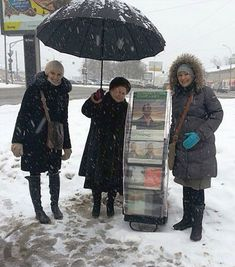 Moscow, Russia - Inspirational sisters public witnessing in the ice and snow. #literature_cart cover