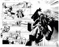 The Mighty Thor # 3 Page 10-11 by Olivier Coipel