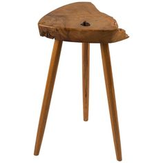 George Nakashima Wepman Side Table in French Olive Ash and Hickory | From a unique collection of antique and modern side tables at https://www.1stdibs.com/furniture/tables/side-tables/