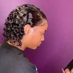 Thriving Hair Glueless Water Curly Virgin Human Hair Bob 360 Lace Wigs with Baby Hairs Lace Front Wigs, Lace Wigs, Layered Bob Hairstyles, Wig Hairstyles, Hairstyles Videos, Curly Hair Styles, Natural Hair Styles, Short Human Hair Wigs, Curly Wigs