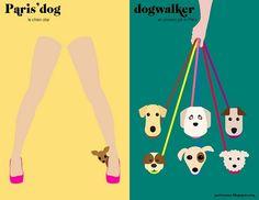 Paris' dog & dogwalker