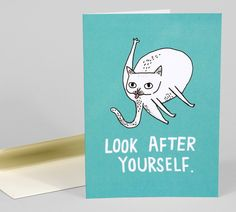 Look After Yourself notecard