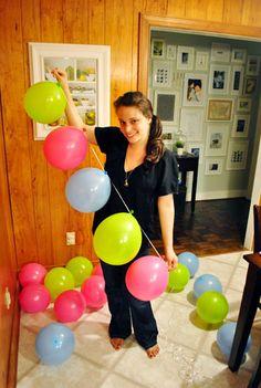 Balloon garland @Natasha S S S Sutila Sutila Sutila Sutila Hancock i want you guys to do this tomorrow.. and tape them hanging btwn the pillars..