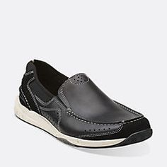 Allston Free Navy Nubuck - Mens Wide Width Shoes - Clarks