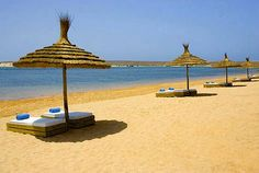 Moroccan #beaches. Love those #stunning beach beds. #Vacation dreams