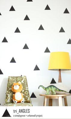 Vinyl Wall Sticker Decal Art - Triangles. $29.00, via Etsy.