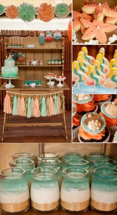 Mermaid ocean under the sea girl birthday party idea