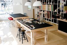 4x8 work table by Emeline & Annabelle, via Flickr