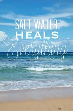 Yes it does! The ocean and beach soothes my soul, my sinuses, and even helped me heal after surgery. #BeachTherapy