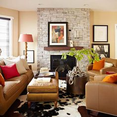 Fall Colors: Decor with Red, Orange, Gold & Brown | Decorating Files | DecoratingFiles.com