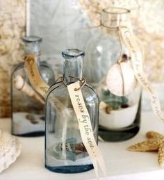 Decorative glass bottle with vintage french label vintage for Best way to sand glass bottles