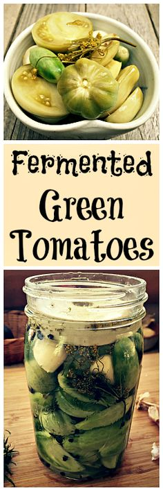 Fermented Green Tomatoes This is a great way to use up all the green tomatoes you have in your garden at the end of the season! Fermented Green Tomatoes This is a great way to use up all the green tomatoes you have in your garden at the end of the season! Fermentation Recipes, Canning Recipes, Kombucha, Superfood, Green Tomato Recipes, Real Food Recipes, Healthy Recipes, Dehydrated Food, Green Tomatoes