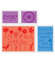 Sizzix Impressions Embossing Folders - Thank You