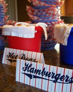 Very cute baseball themed decor